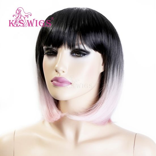 High Quality Synthetic Machine Wig (KS-1010) pictures & photos