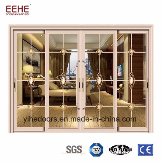 China Entrance Door Triple Glass Sliding Door Storefront Door
