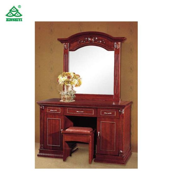 China American Modern Antique Style Wooden Dressing Table With