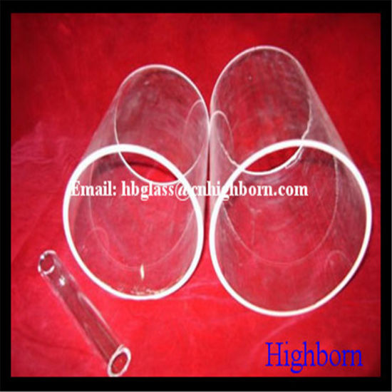 High Purity Clear Big Size Quartz Glass Tube pictures & photos