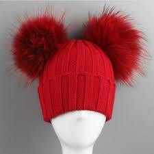 Fashion Acrylic Christmas Knitted Beanies Hat with Pompom