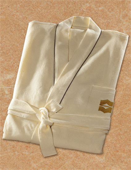 China Luxury Hotel Cheap White Cotton Waffle Weave SPA Robe - China ... d1883bf68