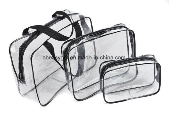 Clear Makeup Bags Travel Toiletry Cosmetic Bag Portable Waterproof Pvc Organizer Case For Men Women Large Medium Small Esg10555