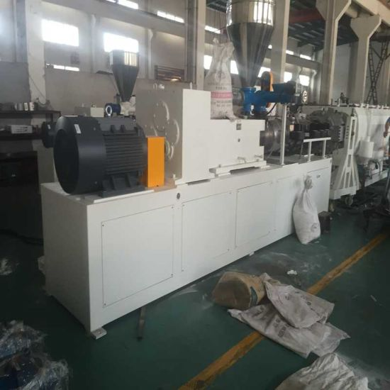 Twin Screw Extruder Four Cavity Plastic PVC Sewage & Irrigation Water& Electric Conduit&Drainage Pipe Tube Extruding Extrusion Production Making Machine