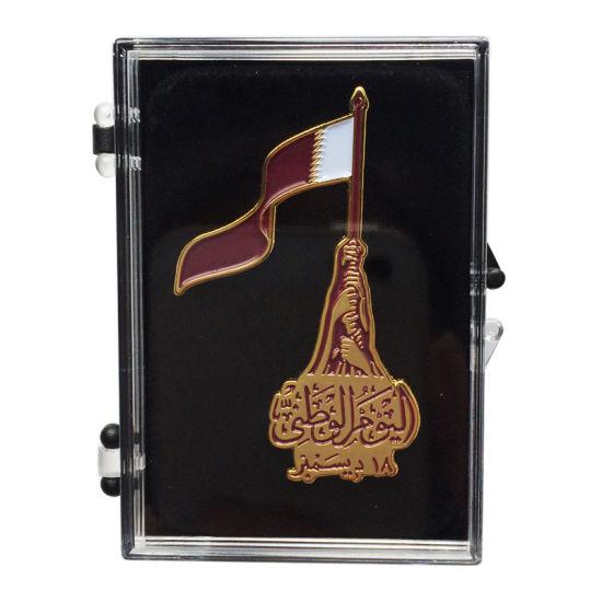 Wholesale Metal Copper Plating Enamel Badge Lapel Pin in Acrylic Box (191)