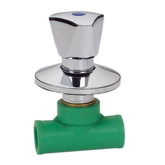 Crome Handle II Dvgw Certificate PPR Plumbing Stop Valve for Hot Water Supply