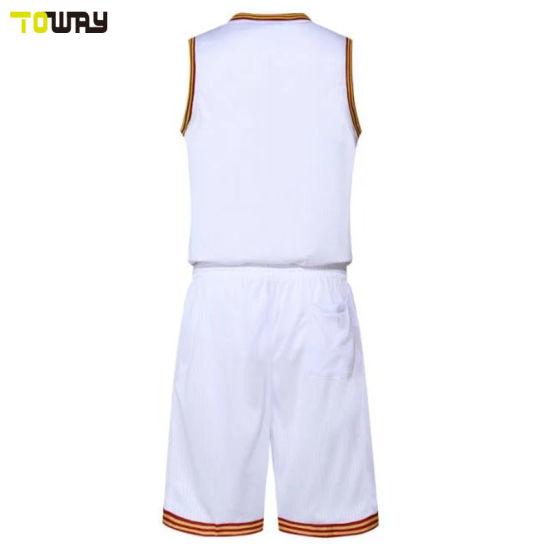505ae6a497d China 2018 New Design Plain White Basketball Jersey Uniform - China ...