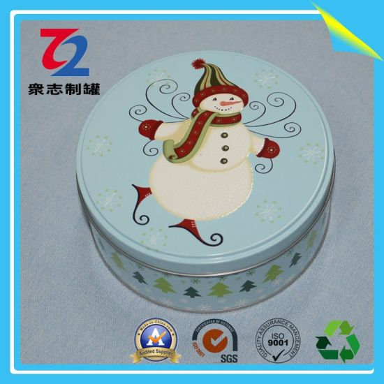 Small Custom Christmas Round Tin Can pictures & photos