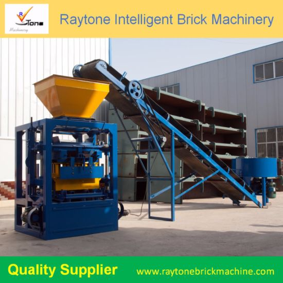 Qt4-26 Manual Cement Block Making Machine Hollow Brick Forming Machine