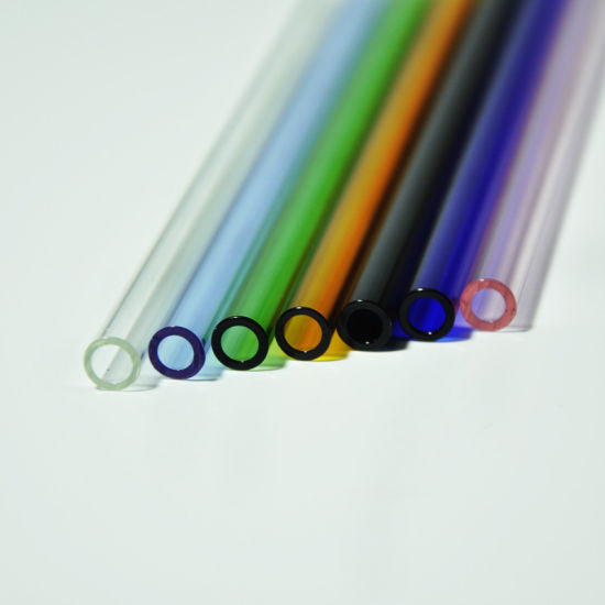 China Glass Straws Glass Drinking Straws with Colored Tip