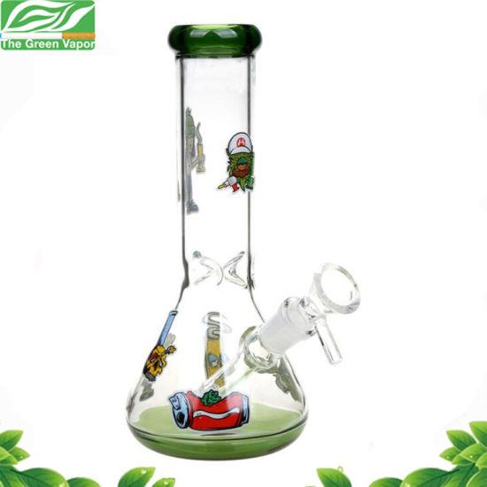 2018 New 12inch Height 7mm Thickness Glass Beaker Smoking Water Pipe