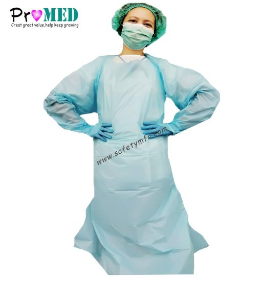 FDA CE ISO13485 approved Disposable Thumb loop Apron