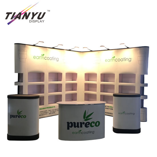 Portable Exhibit Event Booth Display Pop up Backdrop Banner Stand