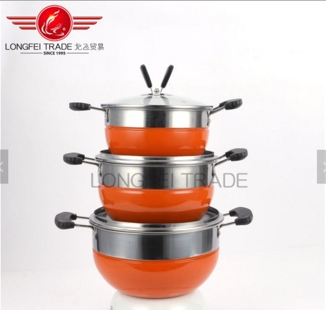 Simple Cooking Non Stick Kitchen Accessories Stainless Steel Pot Set