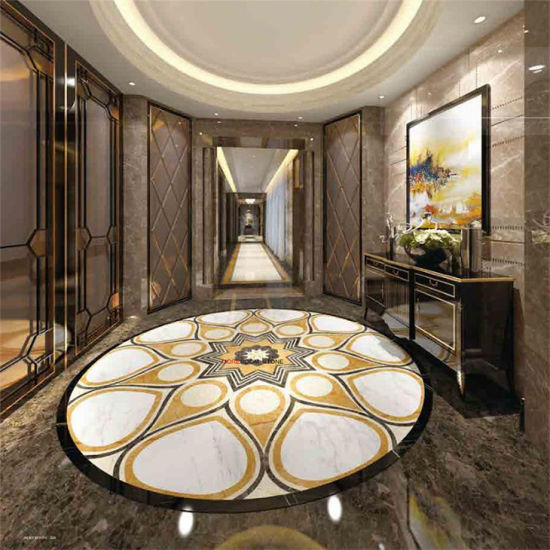 China Wholesale Waterjet Cutting Marble Porcelain Flooring Tile