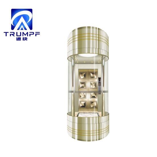 Trumpf Vvvf Observation Semicircle Glass Sightseeing Golden Home Lift Passenger Elevator