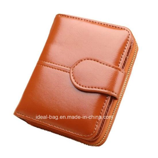 Custom Women PU Leather Pocket Purse Wallet, Fashion Travel Lady Designer Zip Coin Purse Card Holder Wallet