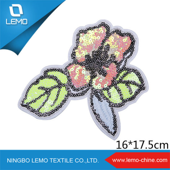 Hot Sales Flower Sequins Patch for Fashion Apparel pictures & photos