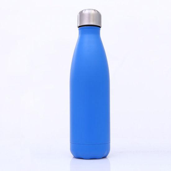 china custom printed stainless steel insulated vacuum cola shape