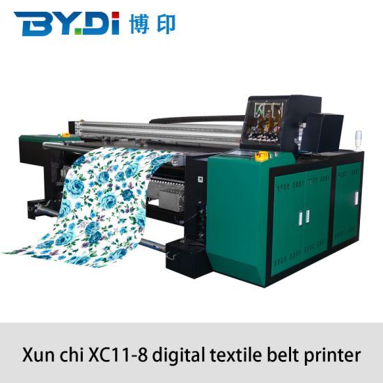 High Speed Cloth Fabric Garment Textile Inkjet Digital Roll to Roll Printer