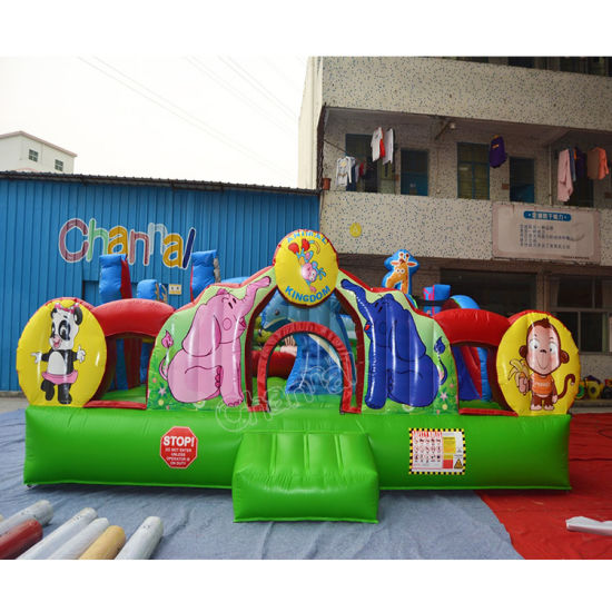 Animal Zoo Indoor Kids Air Bouncer Park Inflatable Bouncer Castle pictures & photos