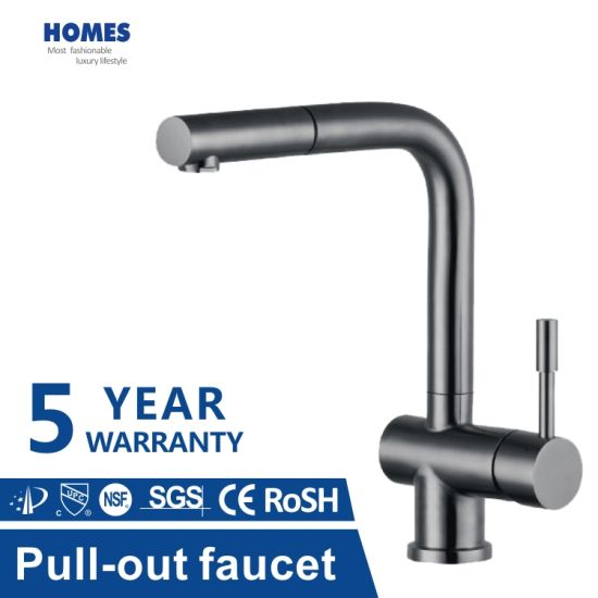 Hot Sale Hot and Cold Kitchen Tap with Pull-out Design, Single Handle Kitchen Faucet