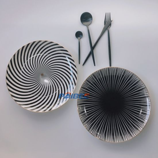 Hot Selling Fine Bone China Dinner Plates Sets Western Style Gold Dinnerware Sets Wedding Tableware pictures & photos