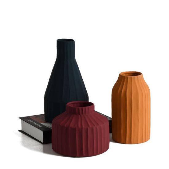 Wholesale Decorative Home Decor Ceramic Colorful Flower Vase Pots Planters