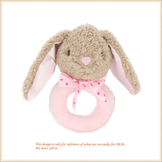 Cute Bunny Rattle Soft Baby Grasping Toys