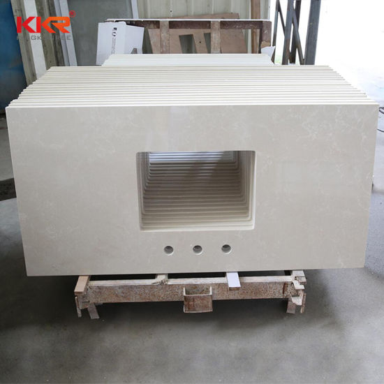 China Prefab Price Bathroom Vanity Bench Top China Stone Bench Top Solid Surface Bench Top