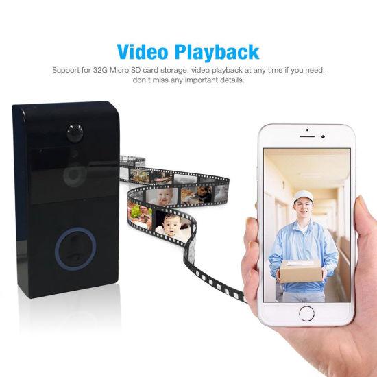 China New Smart WiFi Video Ring Doorbell PRO with Intercom - China