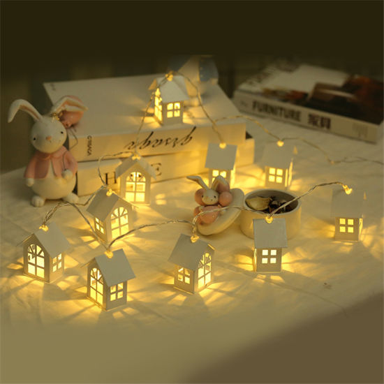 10PCS Christmas Tree Decoration House Style LED Fairy String Light