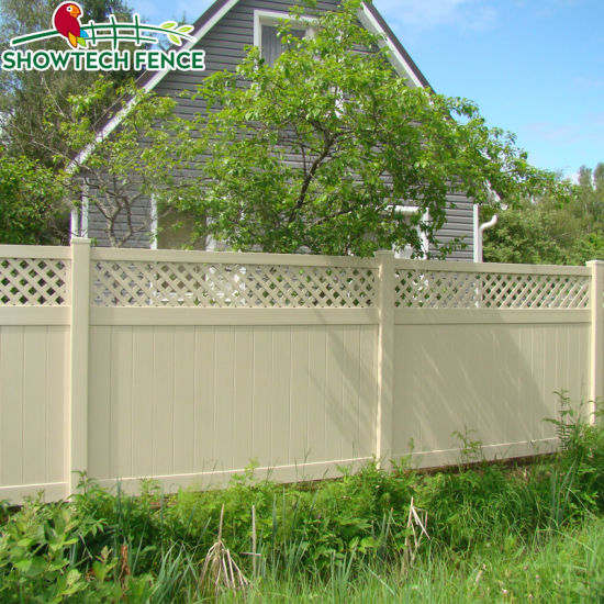 Genial Vinyl Privacy Garden Fence With Top Lattice