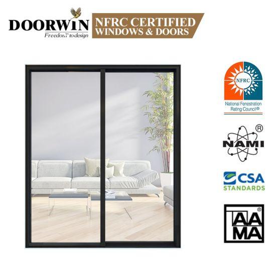 Cheap Price 4 Panel Sliding French Patio Doors Slim Aluminium Frame Double Glass Sliding Door for Exterior