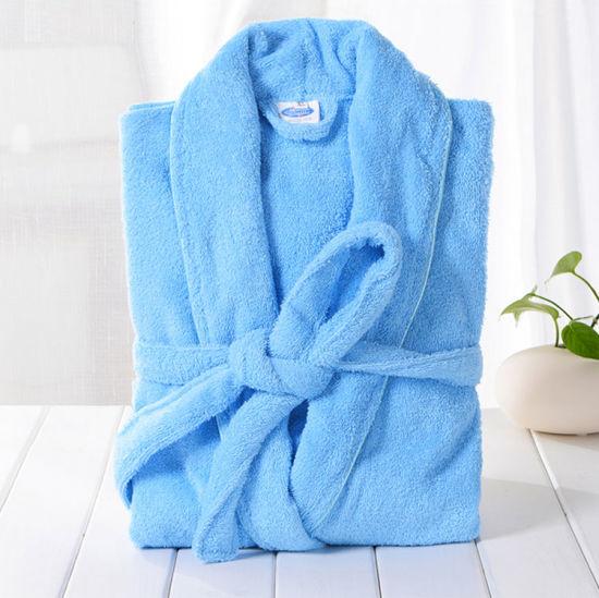 c1de4a8000 2018 Hot Sale Factory High Quality 100%Cotton Bathrobe Absorbent Bathrobe  Set