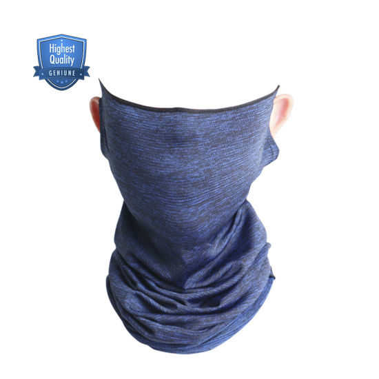 Wheel up Seamless Cool Ice Fabric Sweat Absorption Stretch Dustproof Sports Neck Tube Tubular Scarf Bandanas for UV Protection with Earloop