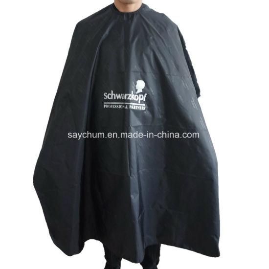 Custom Logo Hair Wrap, Black Head Hairdressing Cape for Adult, Hair Cutting Cape for Professional Salon Cape