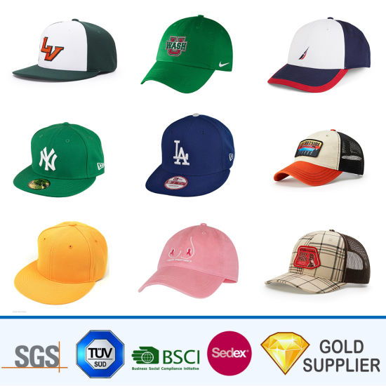 e9beed7a5b7409 Wholesale Promotional Custom Blank Polyester Fabric Logo Embroidered Adult  Sport Golf Hats Plain Distressed 6 Panel Visor Baseball Cap