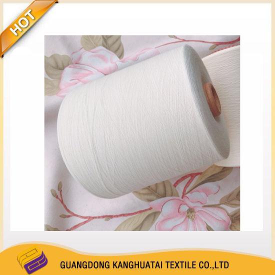 Ne100/1 Pima Combed Compact Cotton Weaving Knitting Spun Polyester Yarn