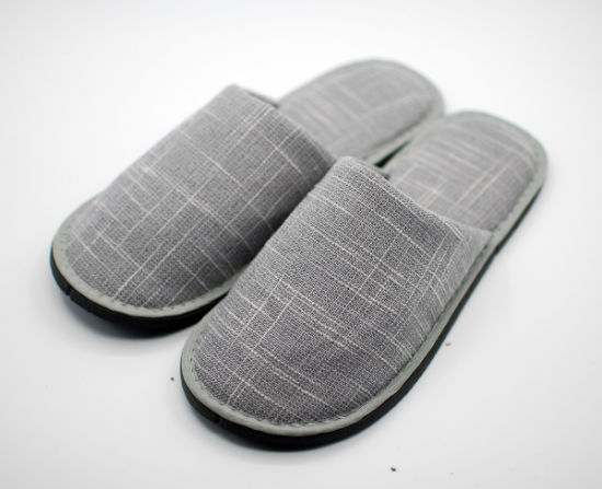 Gray Cotton Laddy House Slipper