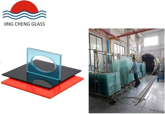6.38-80mm Thickness Laminated Glass with 0.38-2.28mm PVB