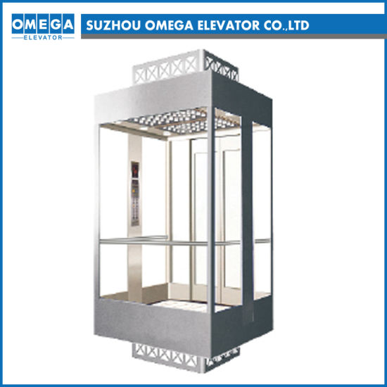 Otis Lift Gearless Machine Room Ard Glue Glass of Safety Clamp Passenger Elevator in China