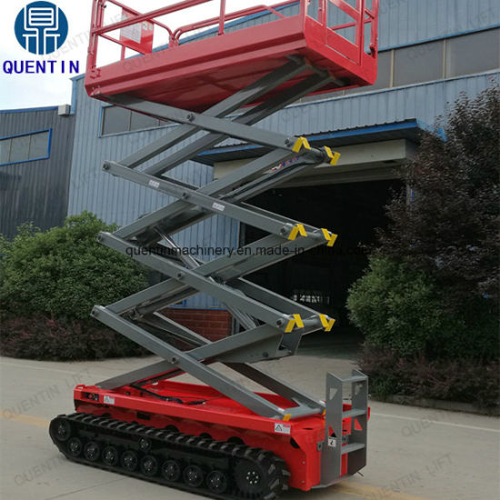 Hydraulic Lifting Platform with Tracks Crawler Self Moving Aerial Man Lift