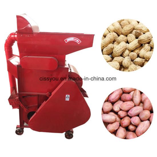 Peanut Groundnut Shell Breaking Husking Sheller Shelling Machine