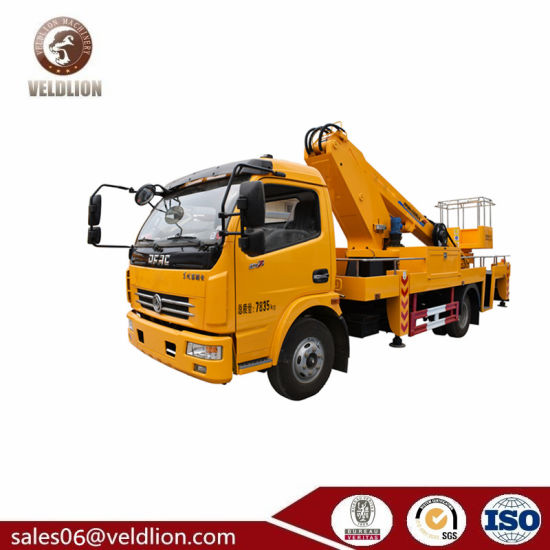 14-16m Factory Sale Cherry Picker Articulating Arm Boom Lift Overhead  Working Truck