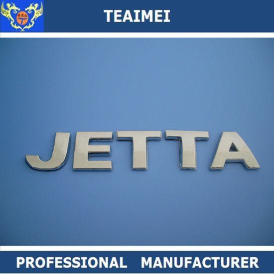 ABS Chrome Custom Car Logo Emblem Jetta Silver Car letter