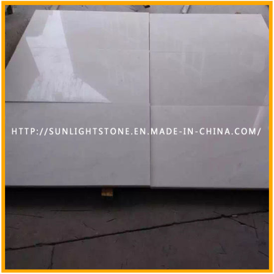 Cheap Polished Pure Snow White Marble For Floor Flooring Countertop