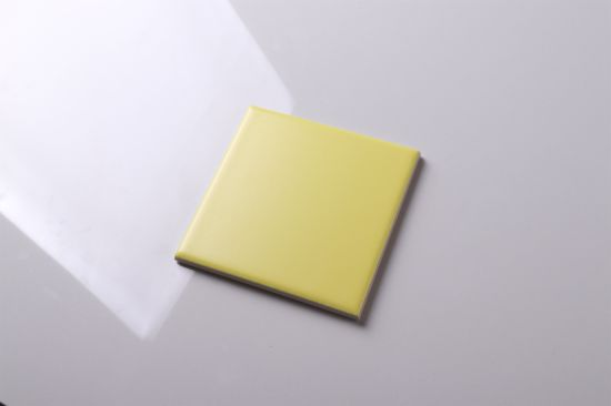 China 4 Quot 4 Quot Matt Yellow Ceramic Tile 100x100 Bathroom Tile