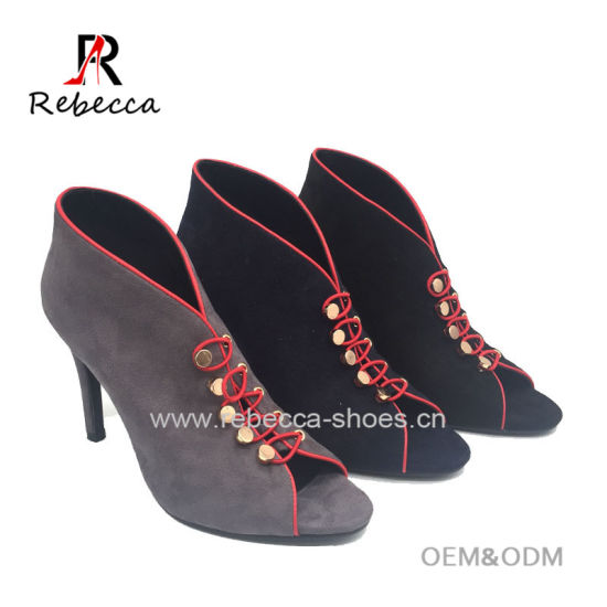 637b4722380b3b China Women High Stiletto Heel Bukle Summer Leather Sandals - China ...