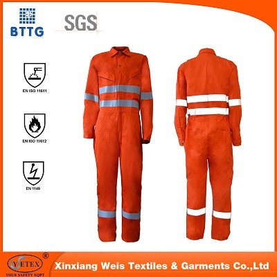 En 11612 Anti Fire and Fire Retardant Clothing for Industry
